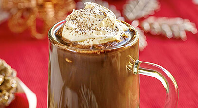 Hot Chocolate with Salted Whipped Mascarpone