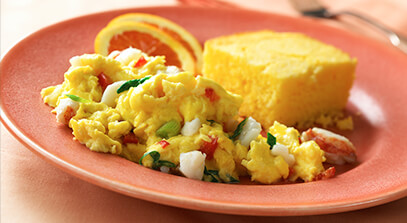 Lobster Scrambled Eggs with Mascarpone
