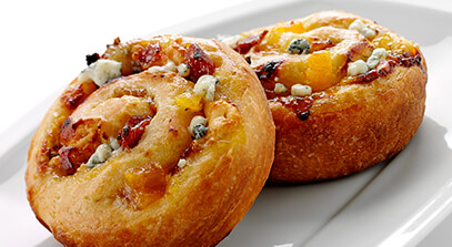 Blue Cheese, Bacon and Apricot-Stuffed Brioche