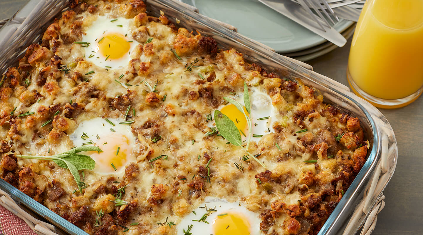 Wisconsin Cheese Black Friday Breakfast Casserole Recipe