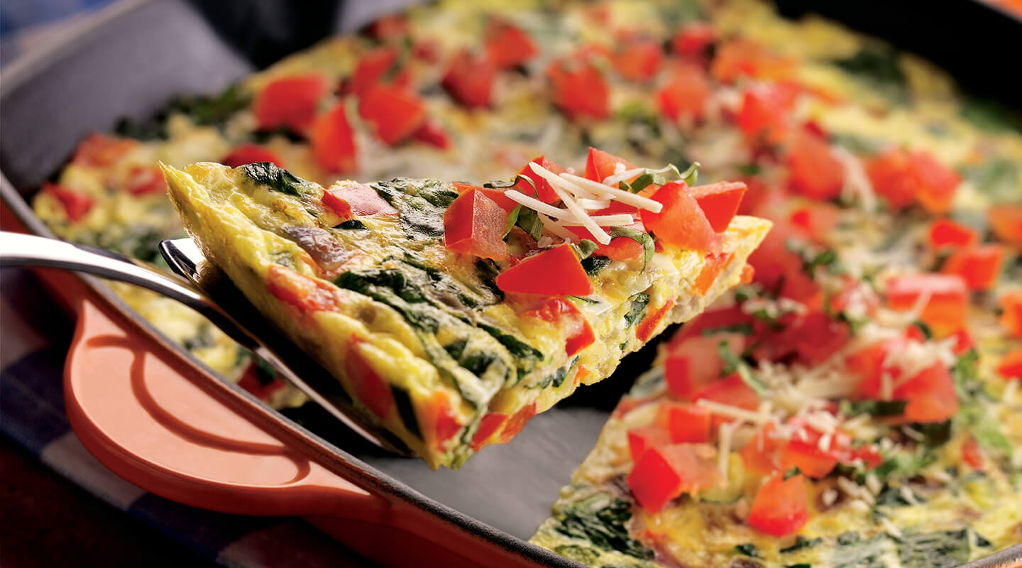 Wisconsin Cheese Vegetable Frittata with Asiago Cheese recipe