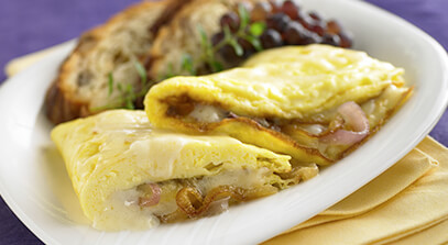 Caramelized Onion and  Cheese Omelet