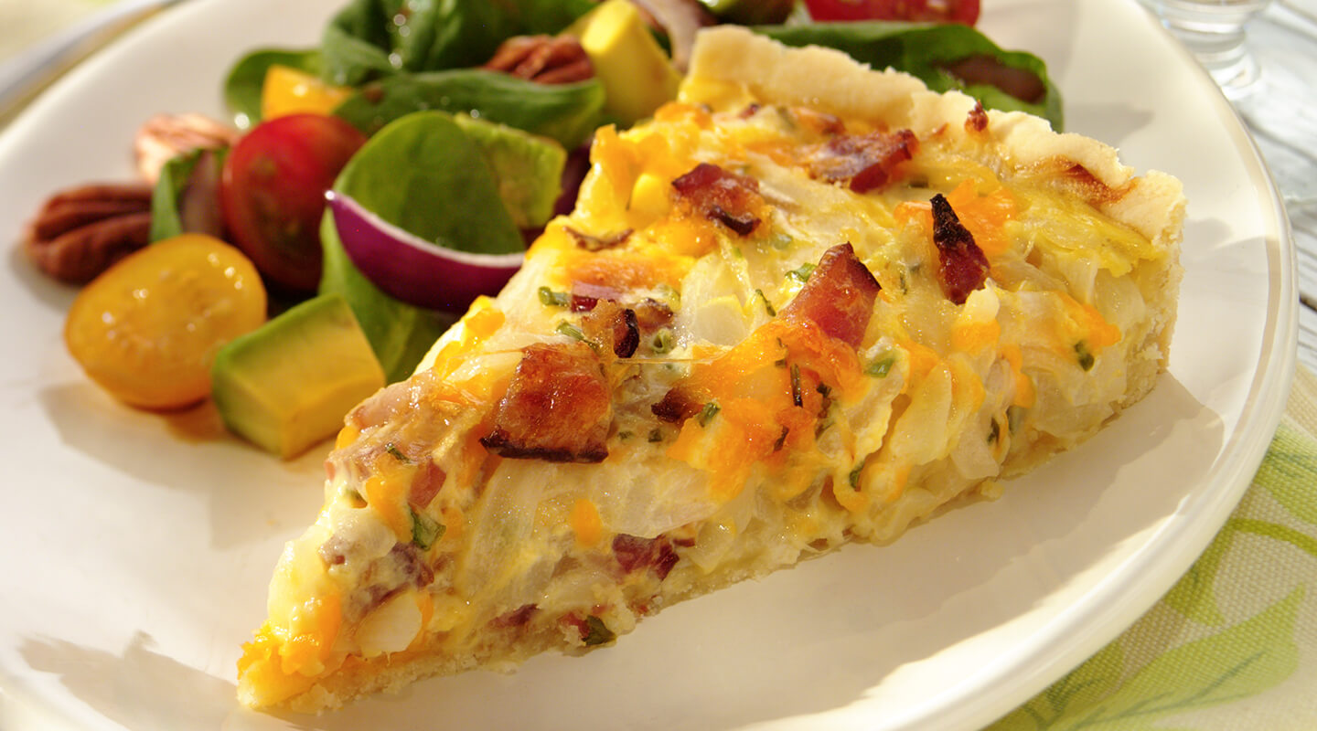 Wisconsin Cheese Cheddar, Onion and Bacon Tarts Recipe