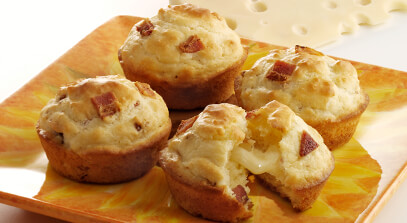 Tunnel of Cheese Muffins with Swiss Cheese
