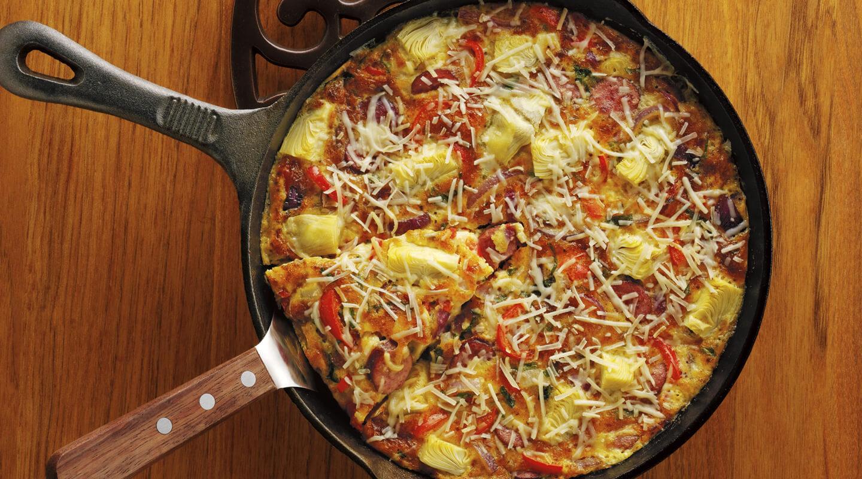 Wisconsin Cheese Veggie-Sausage Italian Frittata  Recipe