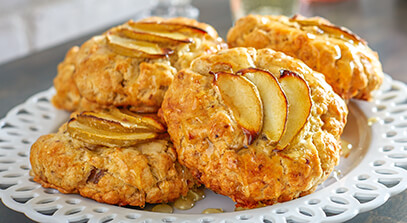 Cheese, Apple and Walnut Scones