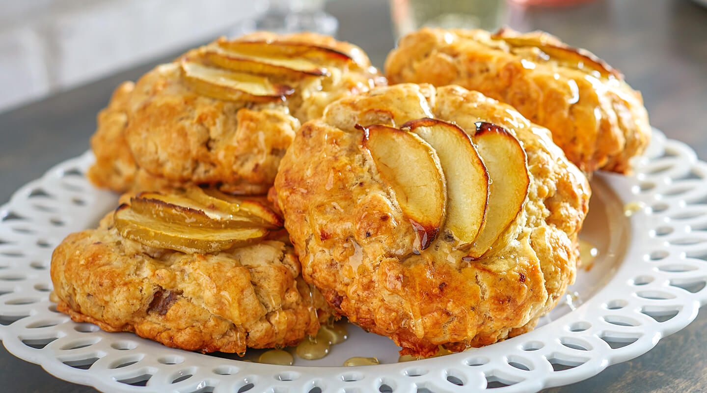 Wisconsin Cheese Cheese, Apple and Walnut Scones recipe