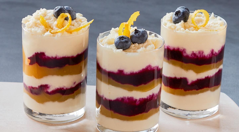 Wisconsin Cheese Lemony Blueberry Quark Mini Parfaits Recipe