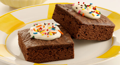 cappuccino brownies with mascarpone cheese