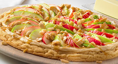 Buttery Caramel Apple Pizza