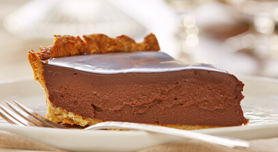 Creamy Chocolate Tart with Parmesan Walnut Crust