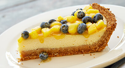 Ricotta Mango-Blueberry Pie