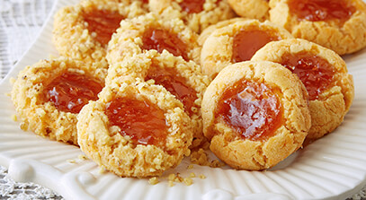 Cheddar Thumbprint Cookies