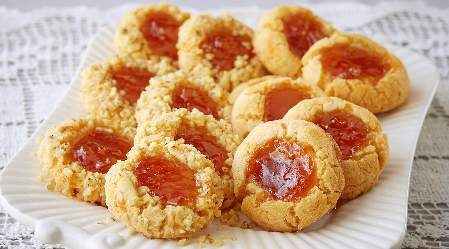 Wisconsin Cheese Aged Cheddar Thumbprint Cookies Recipe
