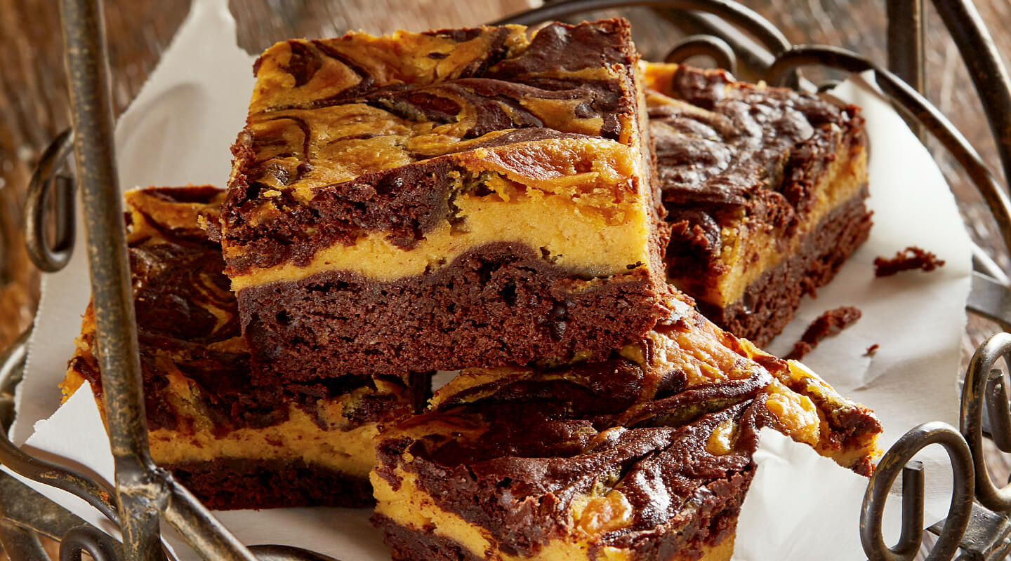 Wisconsin Cheese Pumpkin Cheesecake Brownies recipe