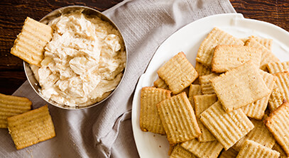 Honey Walnut Cookies with Mascarpone Pear Dip