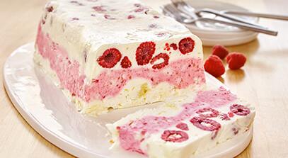 frozen lemon raspberry pound cake terrine