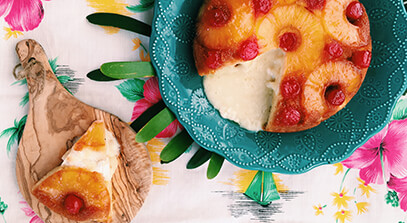 Pineapple Upside-Down Baked Brie