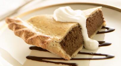 Chocolate Hazelnut Ricotta Pie