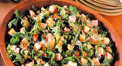 Smoky Swiss 'n Turkey Potato Crunch Salad