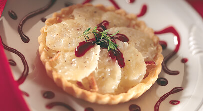 Alpine-Style Cheese, Smoked Bacon and Potato Tart