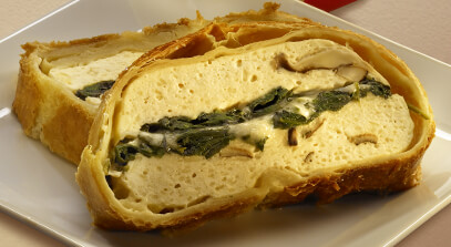 Fontina and Asiago Cheese Wellington