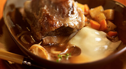 Braised Short Ribs, Onion Soup Style