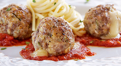 Cheese-Filled Meatballs