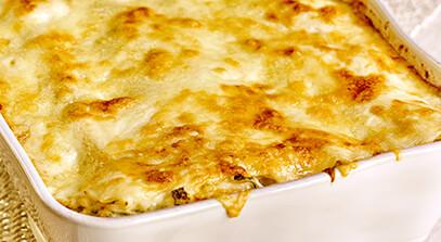 Creamy Fontina Crab Lasagna
