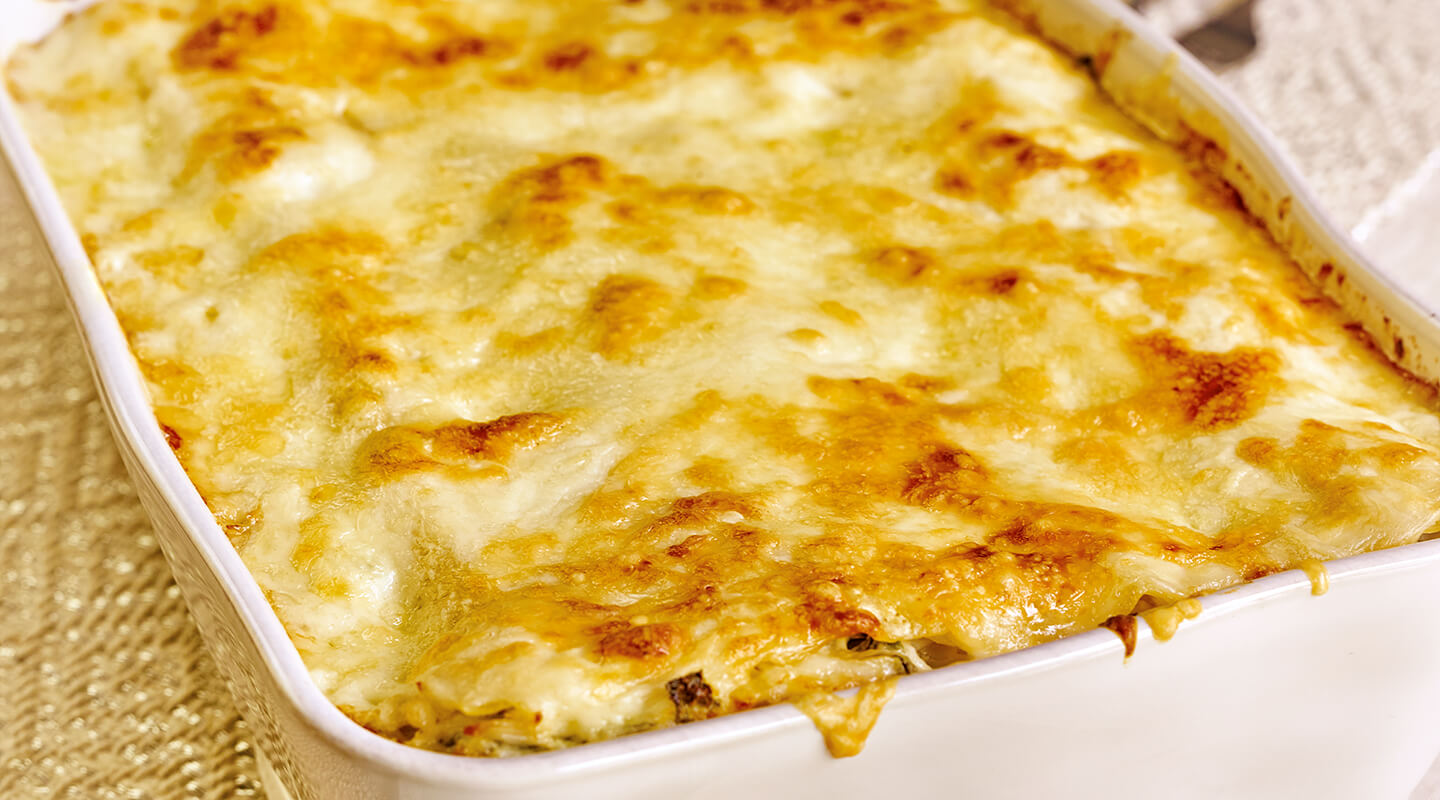Wisconsin Cheese Creamy Fontina Crab Lasagna Recipe