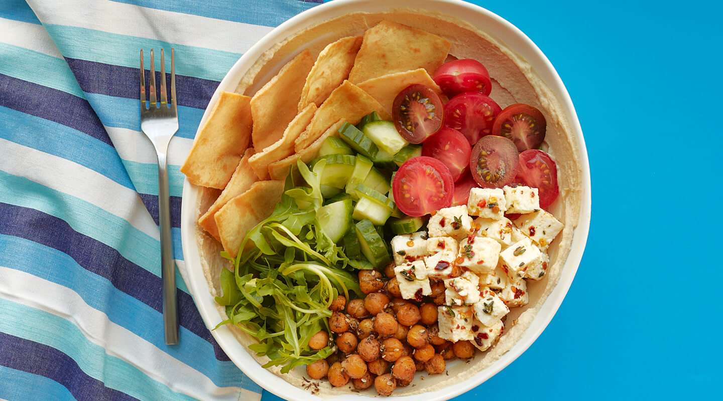Wisconsin Cheese Hummus Bowl with Marinated Feta recipe