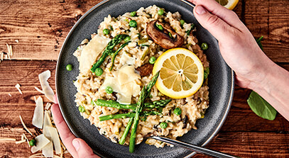 Instant Pot® Spring Veggie and Cheese Risotto