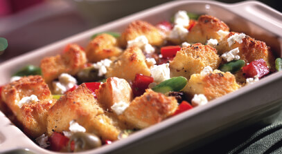 Ham and Cheese Vegetable Strata