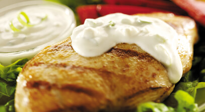 Grilled Chicken with Creamy Gorgonzola Cheese Sauce