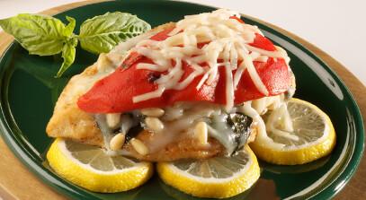chicken italiano with provolone cheese