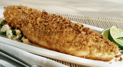 Pine Nut-Crusted Snapper with Artisan Cheese