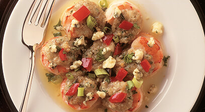 Gorgonzola Stuffed Shrimp