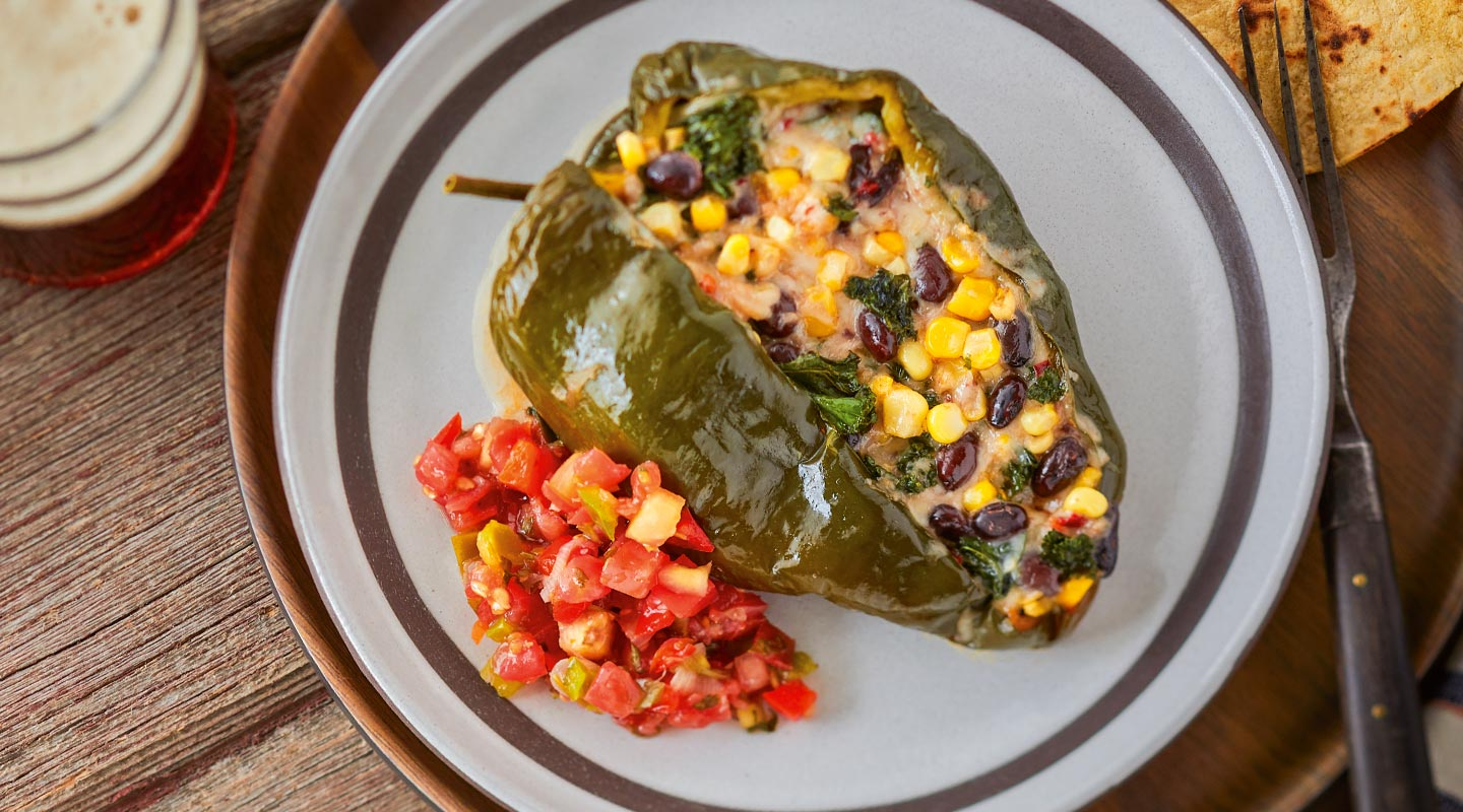 Southwest Pepper Jack-Stuffed Poblano Packets