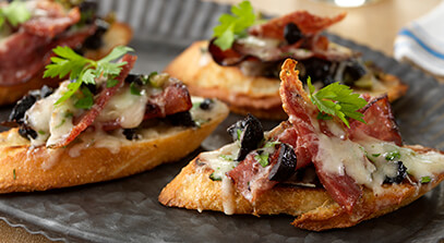 Salami and Italian Cheese Toasts