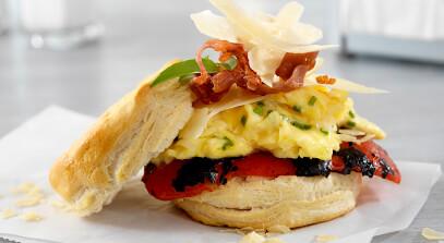 Parmesan Egg Biscuit Sandwich