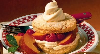 a peach of a shortcake