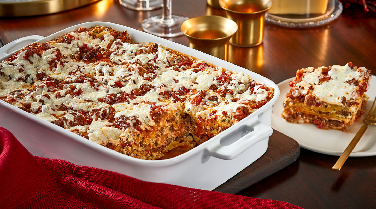 Wisconsin Cheese Sausage and Three-Cheese Lasagna recipe