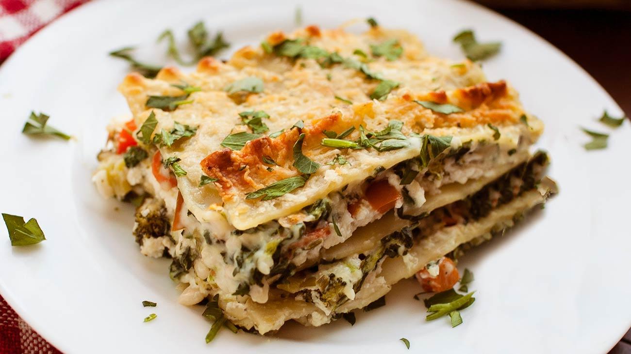 Four-Cheese Vegetable Lasagna