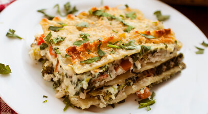 Four-Cheese Vegetable Lasagna