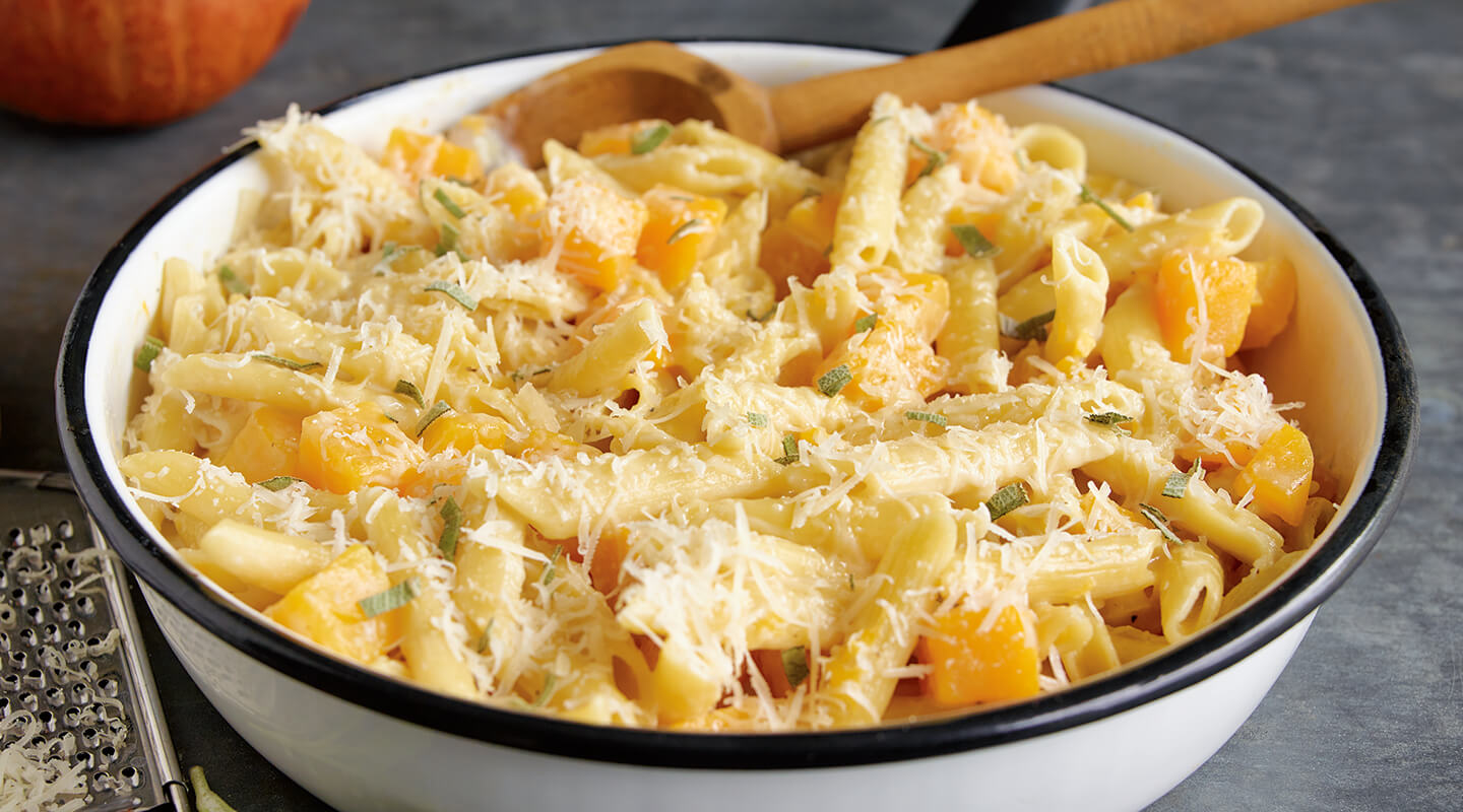Wisconsin Cheese Butternut Squash Parmesan Pasta recipe