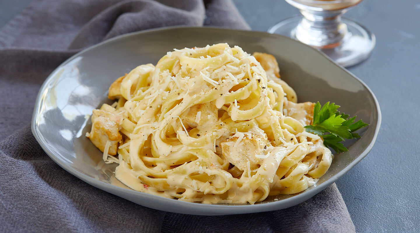 Wisconsin Cheese Spicy Chicken Fettuccine Alfredo Recipe