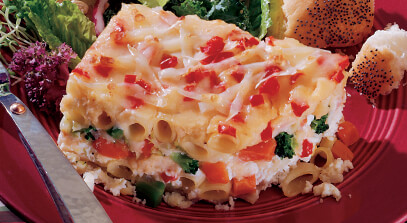 Four-Cheese Mostaccioli Vegetable Lasagna