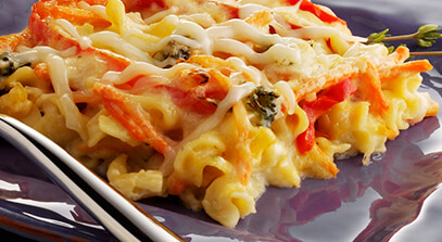 Vegetable Lasagna with Fontina and Provolone Cheese