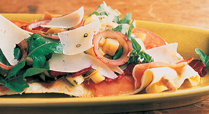 Pizza Salad with Pepato Cheese