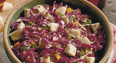provolone and sweet pepper slaw